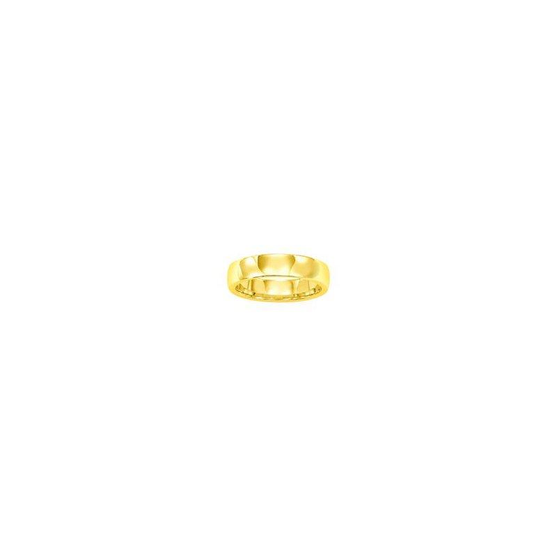 Frederick Goldman 18K Yellow Gold Ergo Fit Engraved Wedding Band
