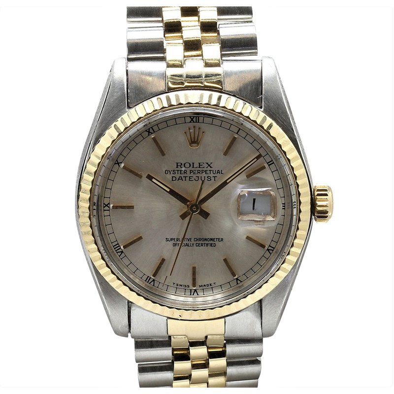 Rolex Pre-Owned Watches Datejust Steel & 14K 16013