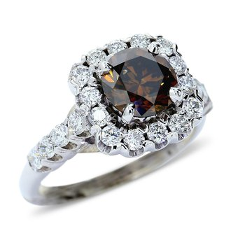 Halo Engagement Ring 14KW