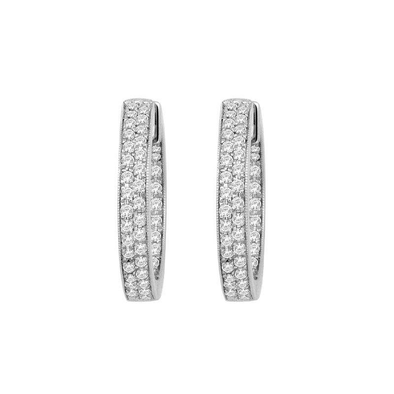 Isadora Diamond Inside Out Hoops