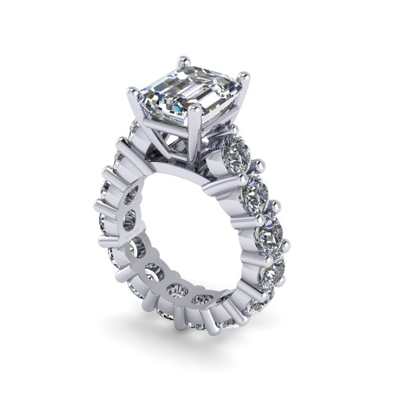 Lunaria Eternity Engagement Ring - Custom Order