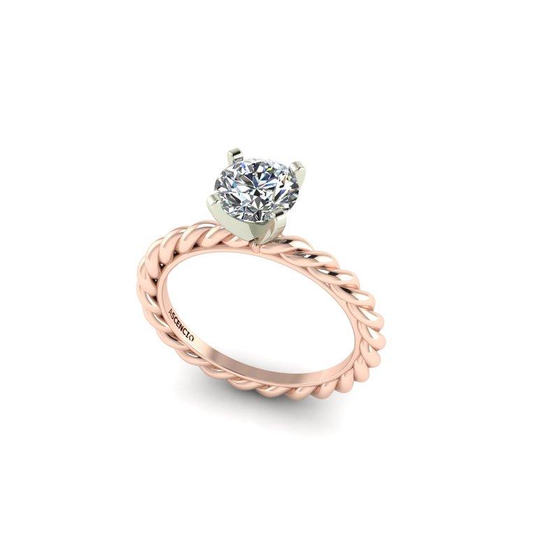 Ascencio Designs Rope Solitaire Engagement Ring