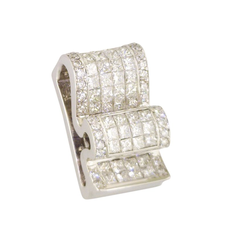 Estate Jewelry Estate Diamond Ribbon Slide