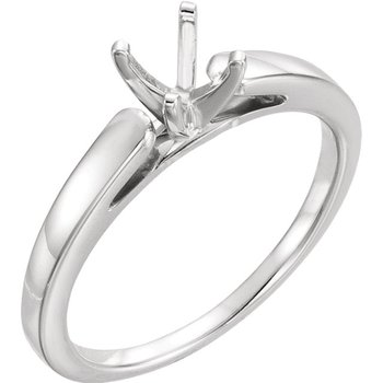 14K White Solitaire Setting