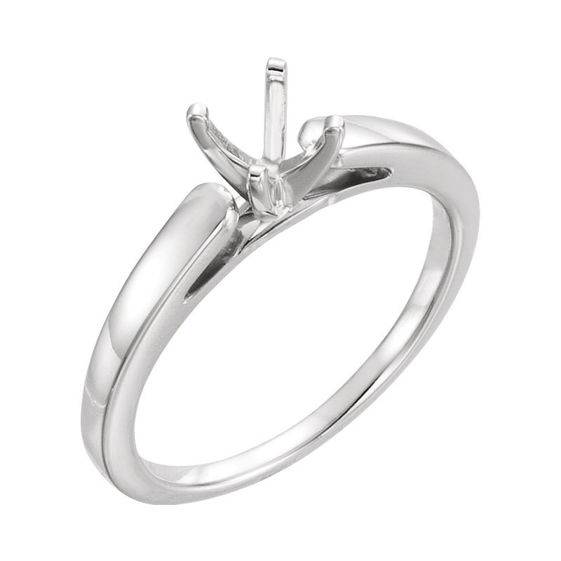 Gallery Designs 14K White Solitaire Setting