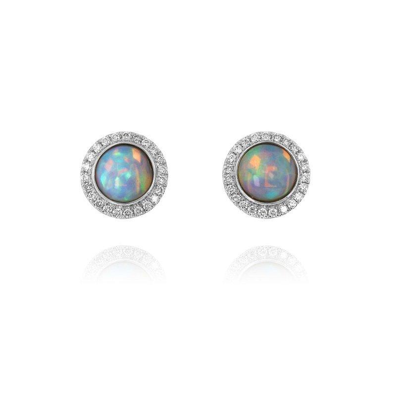 Yael Designs Opal Halo Earrings