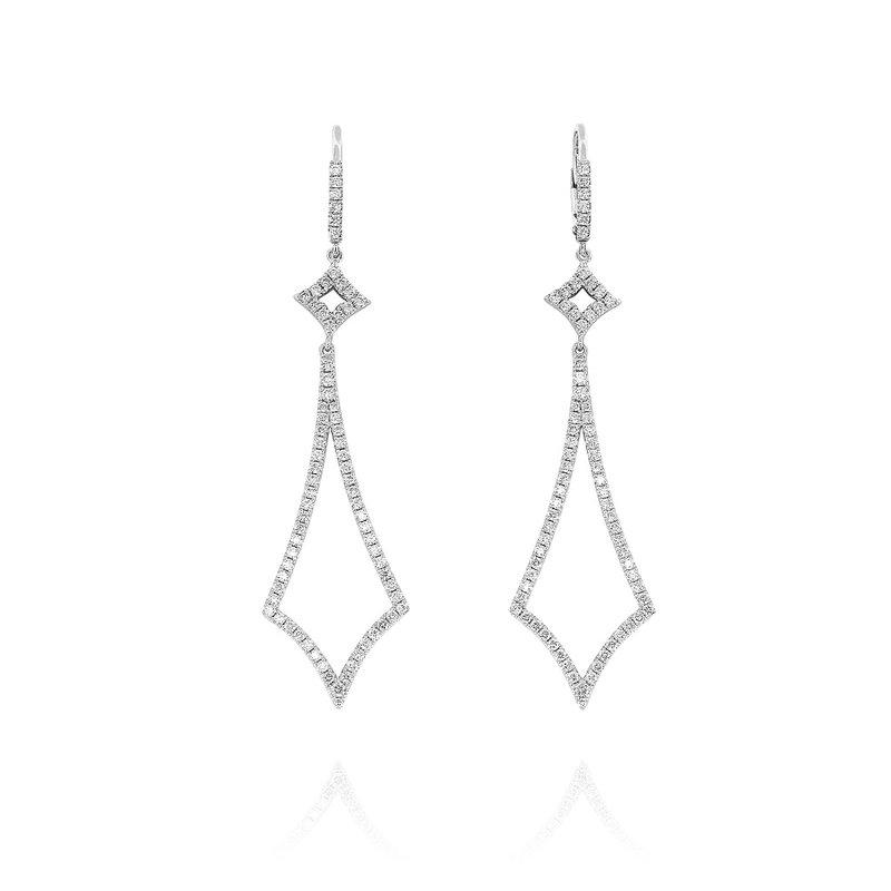 Yael Designs Open Diamond Dangles 18KW