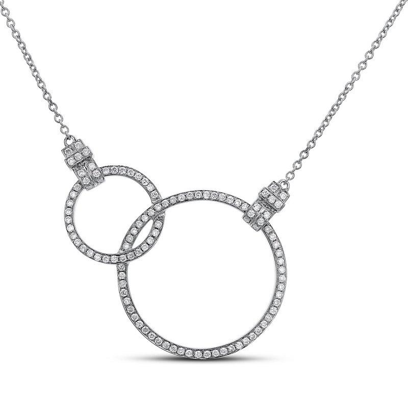 London Gold Designs Interlocking Circles Necklace 18KW