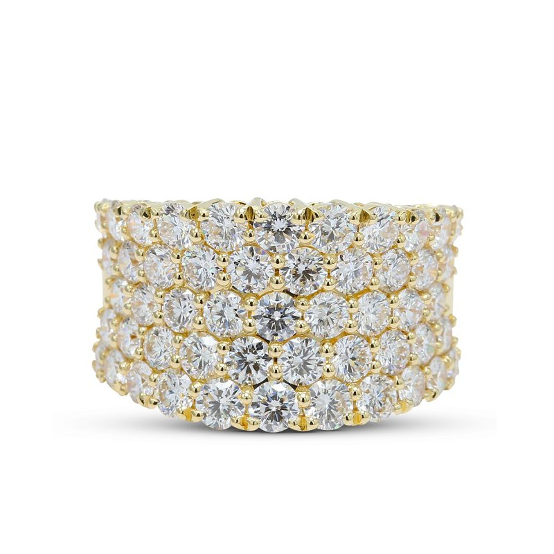 Isadora Concave Pave Diamond Band
