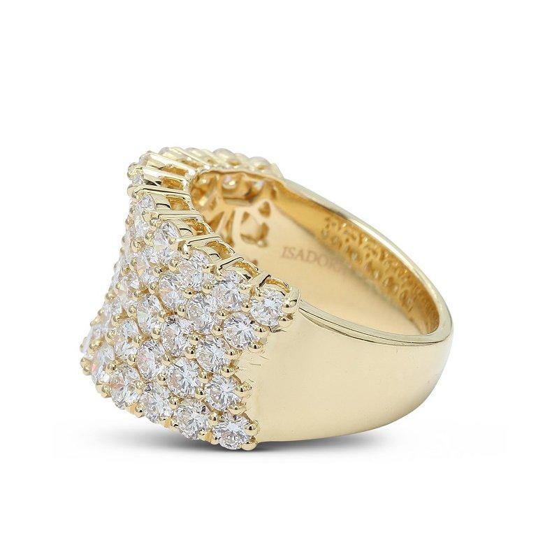 Isadora Concave Pave Diamond Band