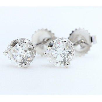 2.01 E/VS2 Clarity Enhanced Diamond Studs