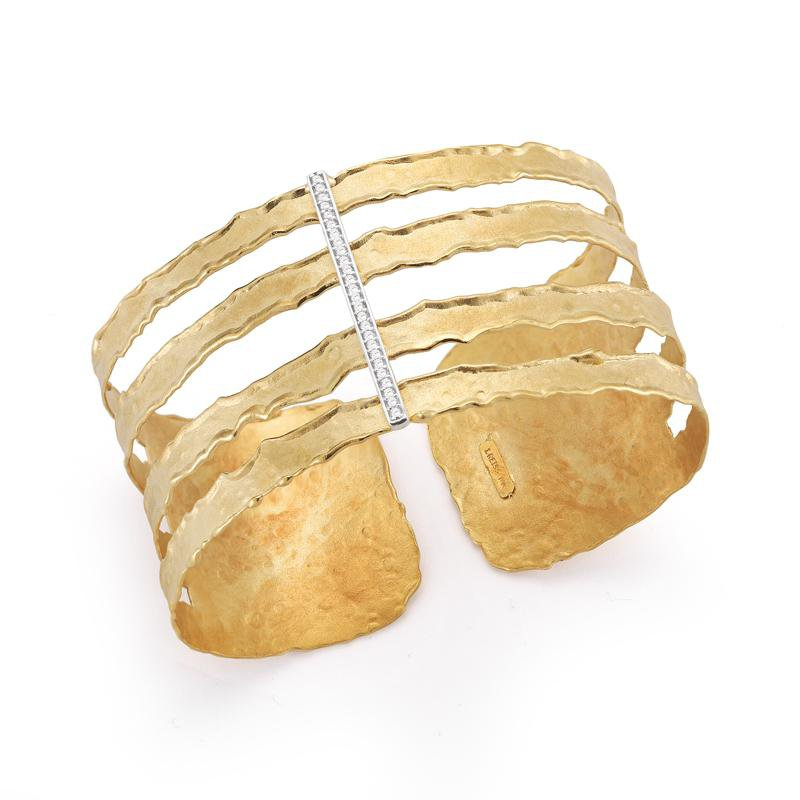I. Reiss Diamond Accent Cut-Out Cuff 14KY