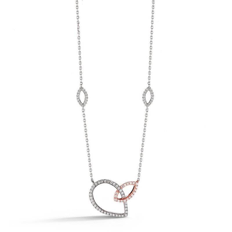 Marquise & Pear Shape Station Necklace