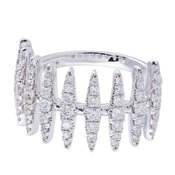 Diamond Vertical Bar Ring 14KW
