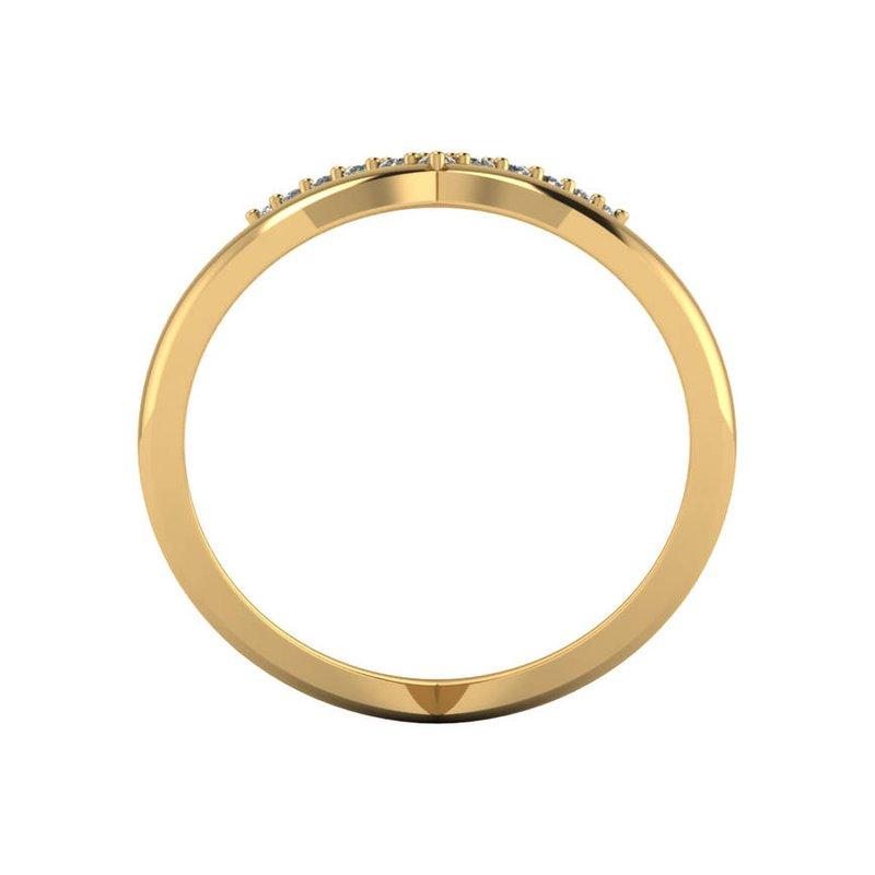 London Gold Designs Geometric Diamond Ring
