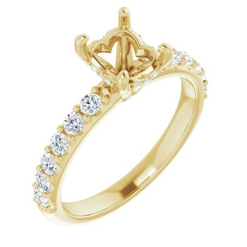 Oval Engagement Ring Setting 14KY