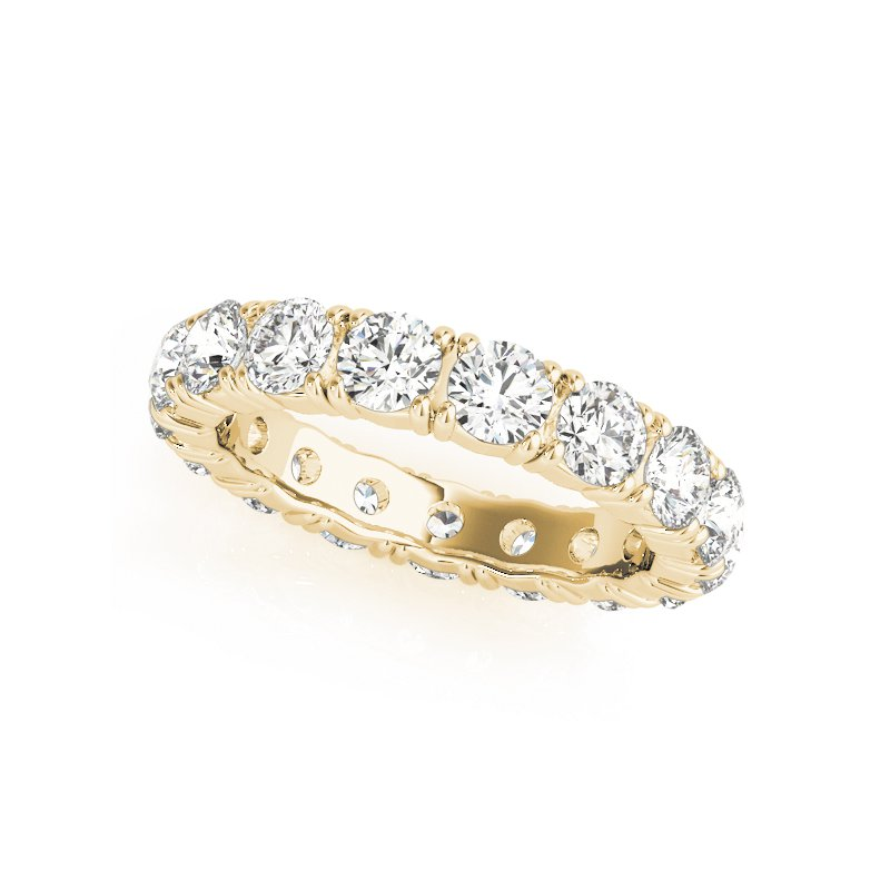 Gallery Designs Round Diamond Eternity Prong Band