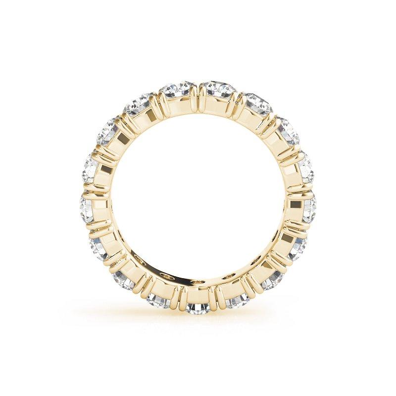 Gallery Designs Round Diamond Eternity Prong Band