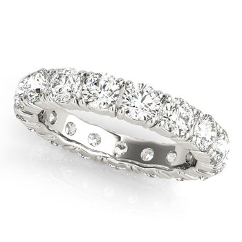 Round Diamond Eternity Prong Band