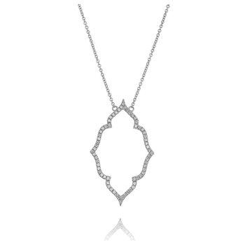 Fancy Quatrefoil Necklace 18KW