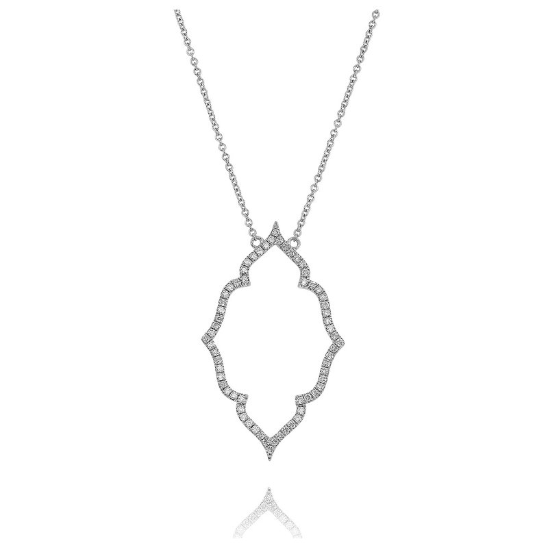 Yael Designs Fancy Quatrefoil Necklace 18KW