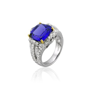 Tanzanite & Diamond Ring 18KW
