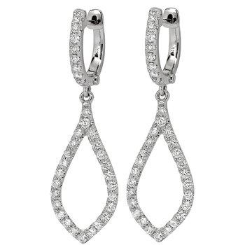 Open Dangle Earrings 18KW