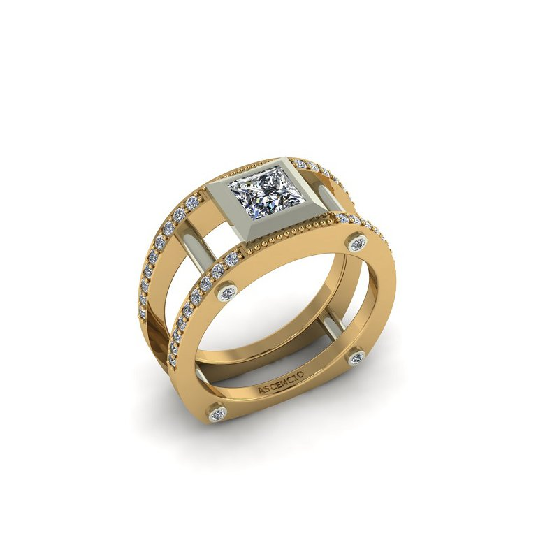 Ascencio Designs Modern Open Style Ring