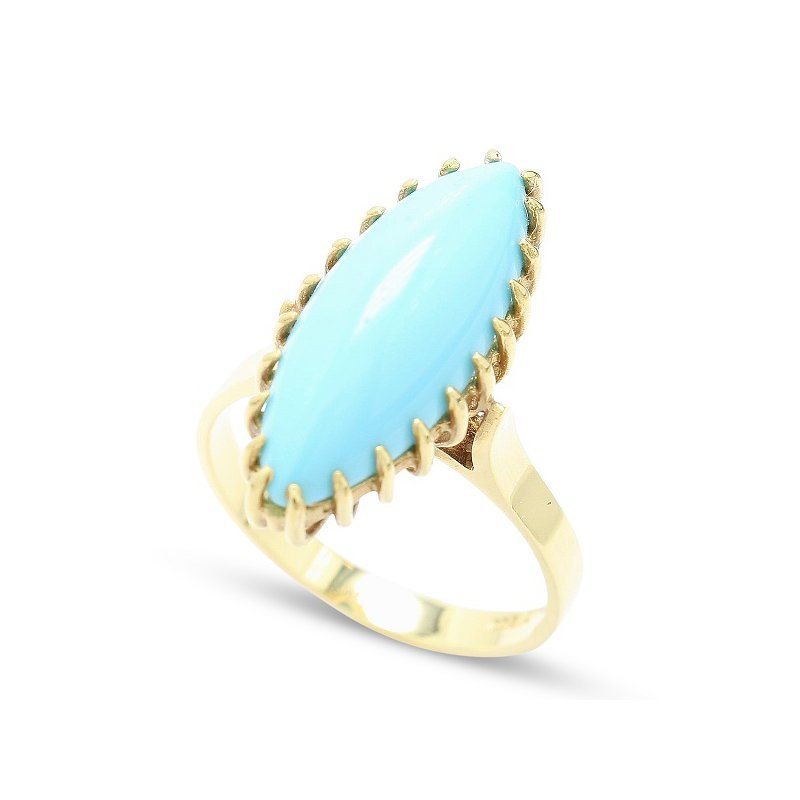 Estate Jewelry Turquoise Ring by Corletto