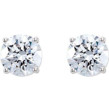 1.01ct Round Brilliant Diamond Studs