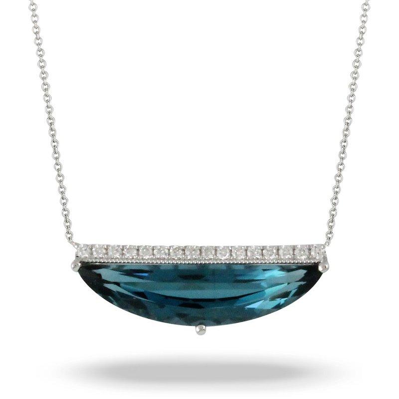 Doves London Blue Topaz & Diamond Necklace