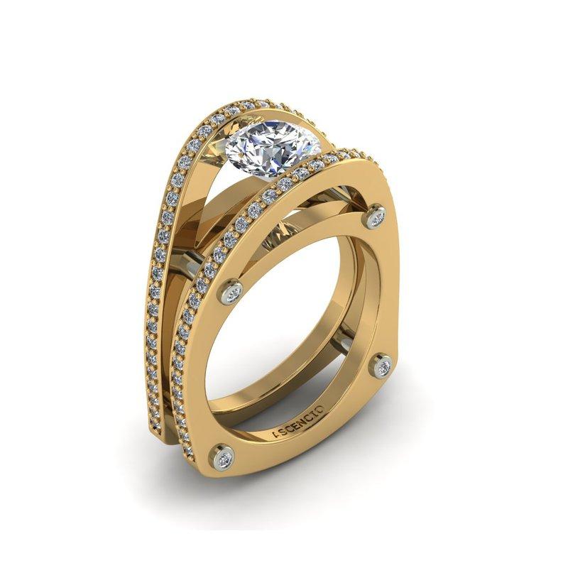 Ascencio Designs Modern Open Engagement Ring