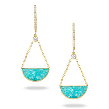 Amazon Breeze Diamond & Amazonite Dangles