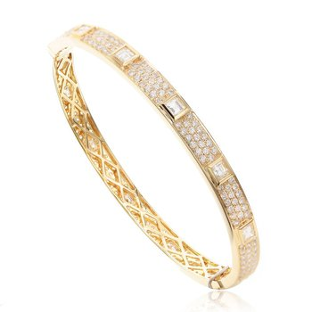 Eternity Diamond Bangle Bracelet 18KY