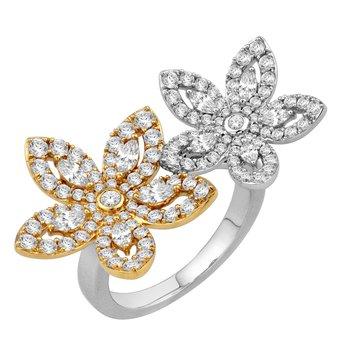 Flower Petal Diamond Ring 18WY