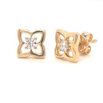 Floral Inspired Diamond Earrings