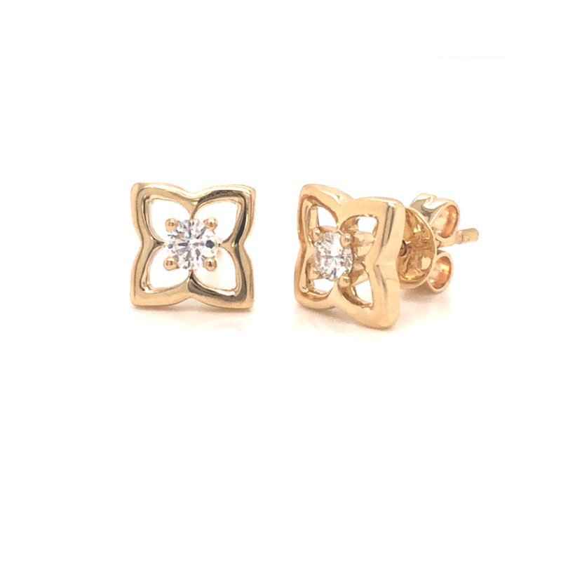Cline Floral Inspired Diamond Earrings