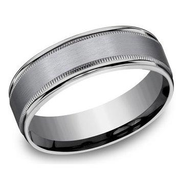 Men's Tantalum Ring with Milgrain