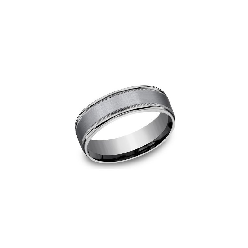 Benchmark Men's Tantalum Ring with Milgrain