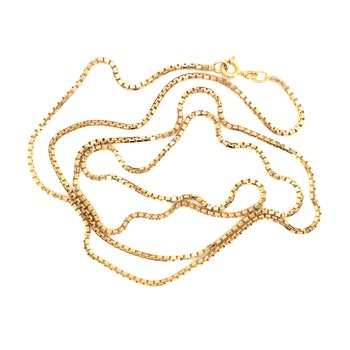 Estate 14k Yellow Gold Box Chain