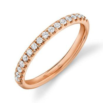 14k Rose Gold Diamond Band (0.25ctw)