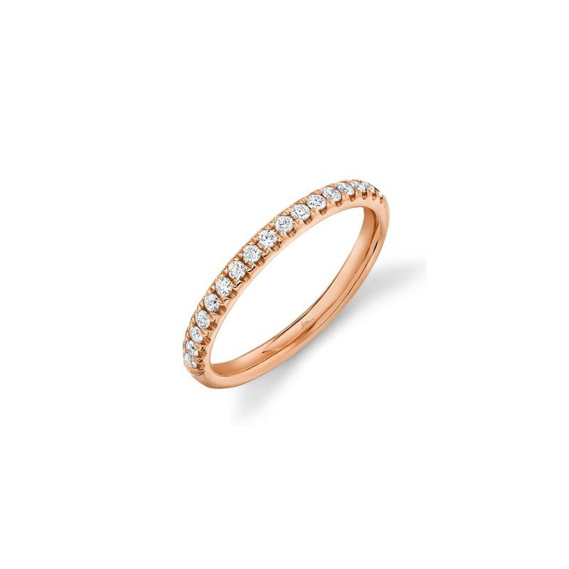 Cline 14k Rose Gold Diamond Band (0.25ctw)