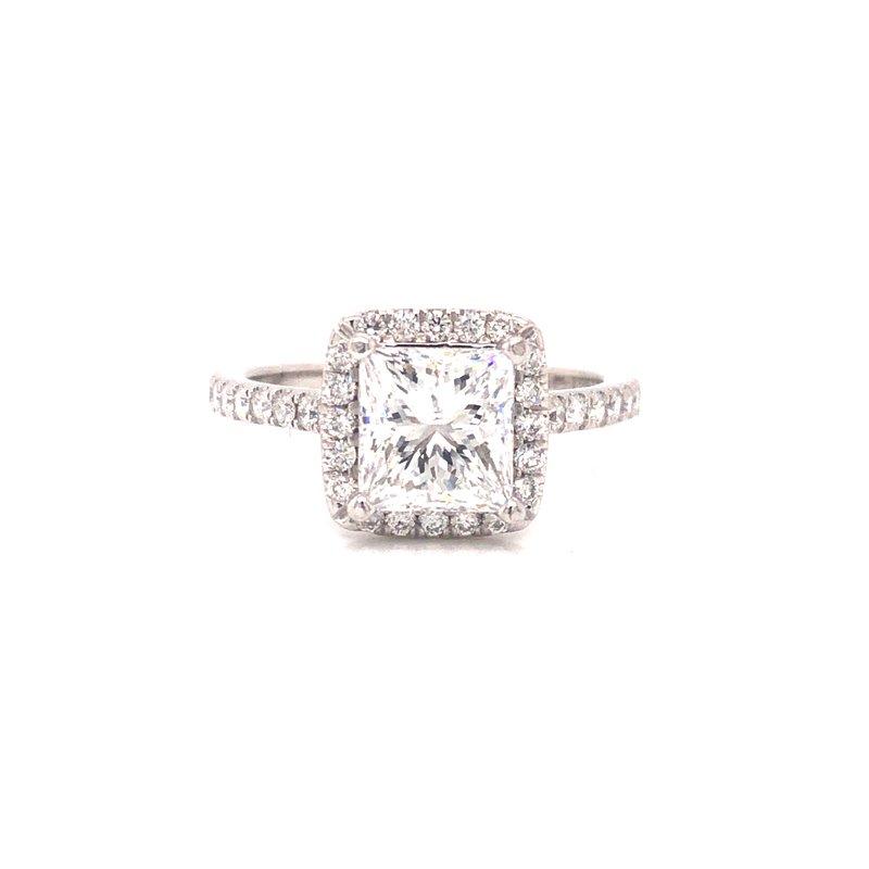 Cline Custom Princess Cut Halo Ring