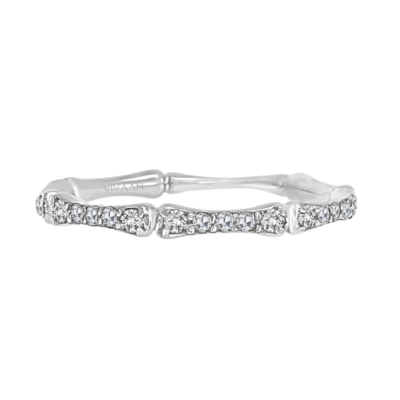 Cline 18k White Gold Diamond Band