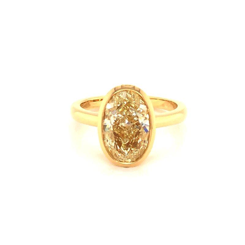 Cline Custom 18k Yellow Gold Diamond Ring