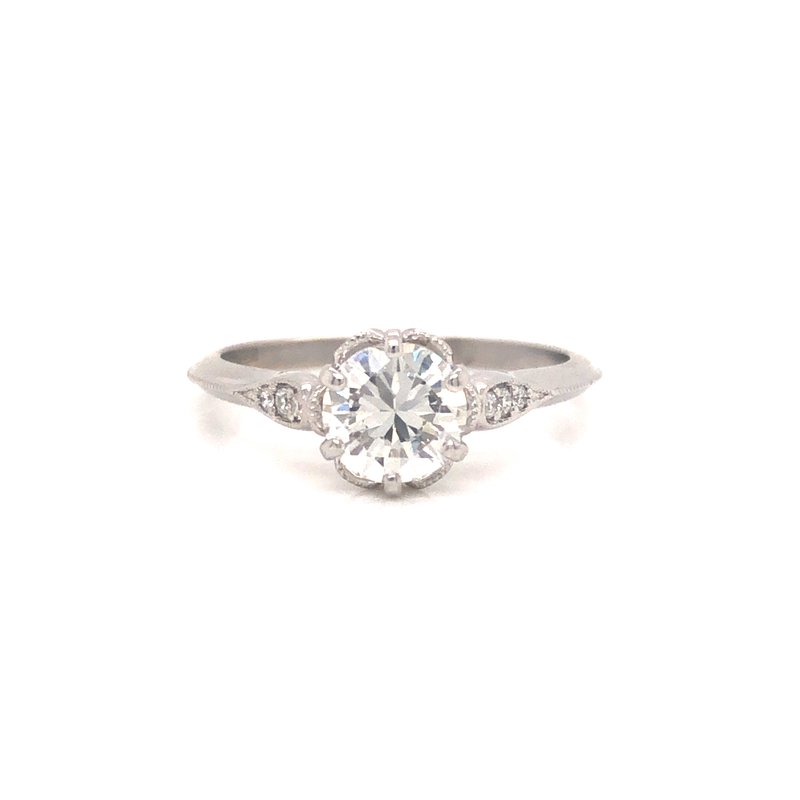Cline Round Brilliant Diamond Ring