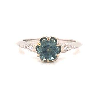 Round Brilliant Montana Sapphire Ring