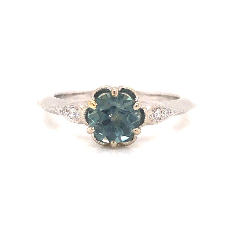 Cline Round Brilliant Montana Sapphire Ring