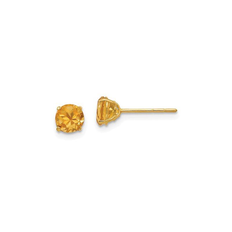 Cline 14k Yellow Gold Citrine Stud Earrings
