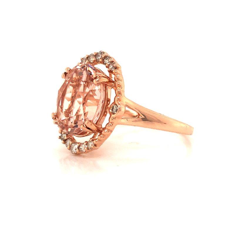 Cline Morganite and Diamond Ring